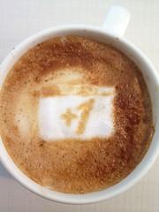 Today's latte, +1.