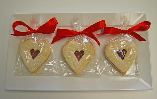 Heart Shaped Raspberry Sandwich Cookies