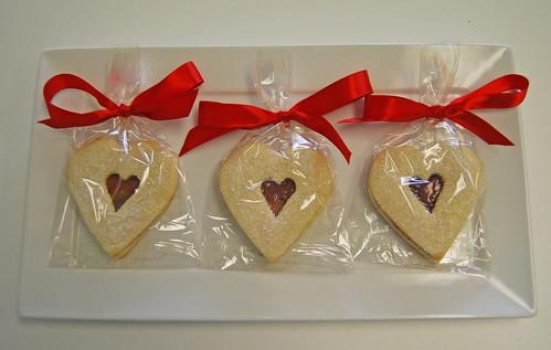 Heart Shaped Raspberry Sandwich Cookies