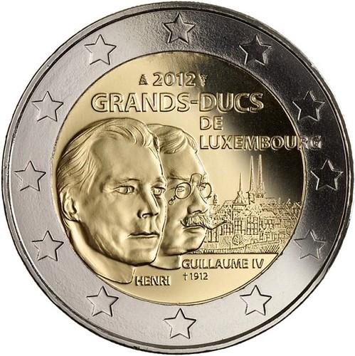 2 Euro Luxemburgsko 2012, Veľkovojvoda Wiliam IV.
