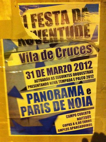 Vila de Cruces 2012 - Festa da Xuventude - cartel