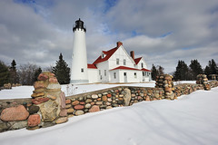 Point Iroquois Lighthouse - Whitefish Bay, Michigan by Michigan Nut