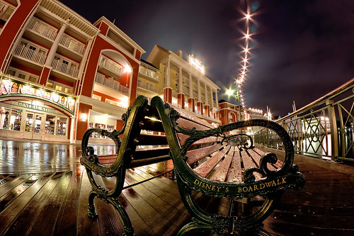Rainy Night on The Boardwalk (Fisheye Friday #26)