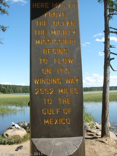 Sign at the Headwaters of the Mississippi River, Itasca State Park, Minnesota