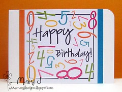 CAS Happy Birthday card