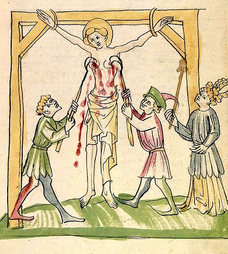 Martyrdom St Petronella. Strasburg 1419, colored drawing. Cod Pal germ 144. U of Heidelberg by tony harrison