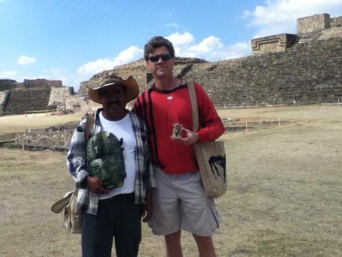 Filadelfo Morelos and me @ Monte Alban, Oaxaca 02.2012