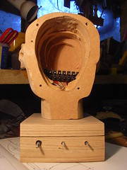 Automaton head connector block in situ