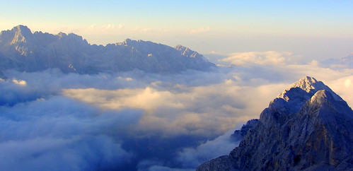 light summer sky mountains sunshine clouds climbing slovenia mounttriglav silvyp