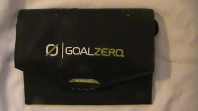 goal zero solar packed