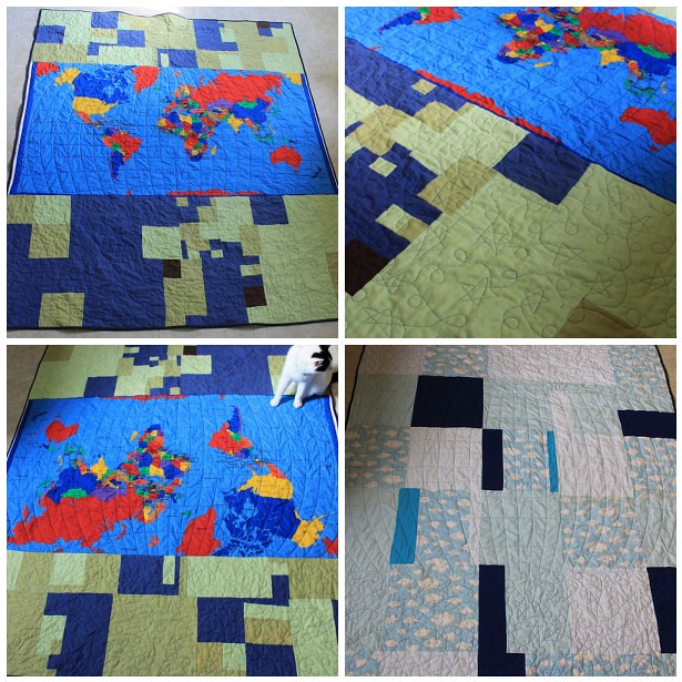 World Map Quilt Mosaic