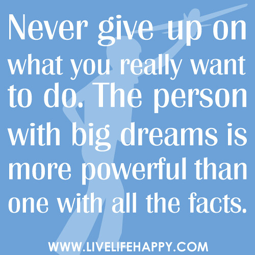 Never Give Up On What You Want
