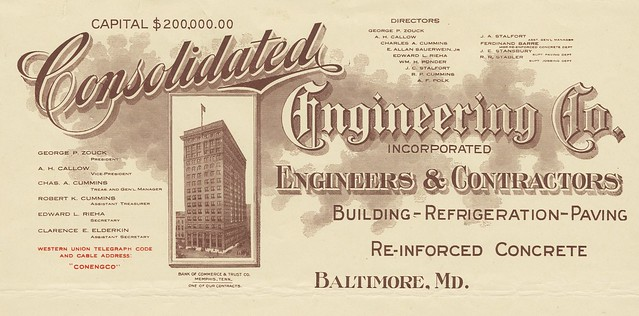 illustrated 1914 engineering business letter