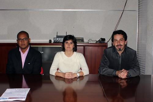 Gilberto Pérez (izq), Leticia Yus y Javier Hurtado (der)