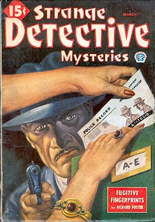 201b Strange Detective Mysteries (Canada) Mar-1945 Includes Seven Isn't Lucky by E. Hoffmann Price