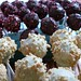 cake pops cranberry-chocolate and banana - salty peanuts