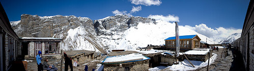 The camp at Thorong Phedi. Right around 15,000 feet