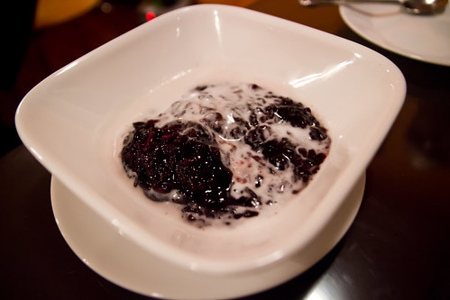 Black Sticky Rice with Taro in Coconut Milk at Curry Away
