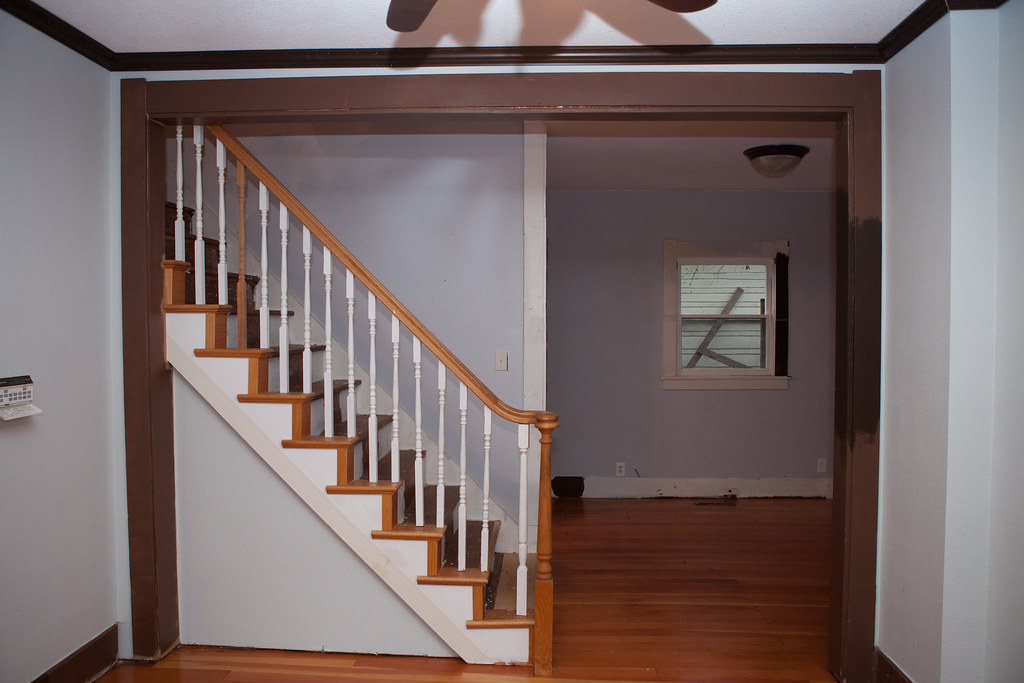 Stairs/Den Before