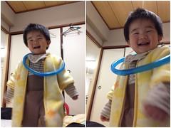 首にホースの輪をかけるよ^^ (2012/2/27)
