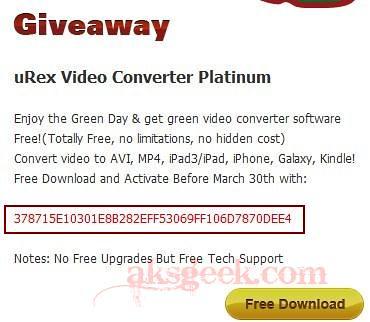 uRex Video Converter Platinum License key