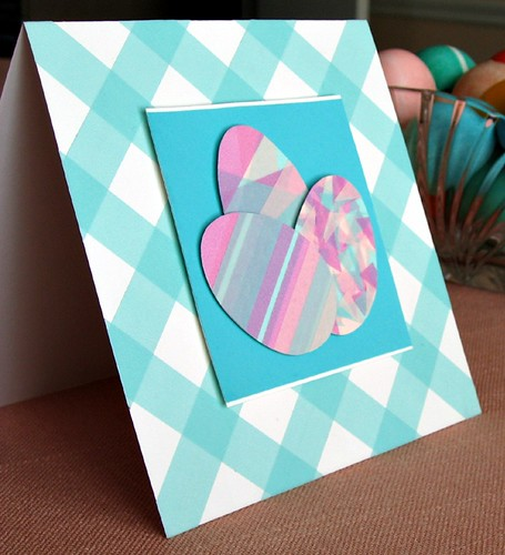 Washi tape Easter egg card tutorial
