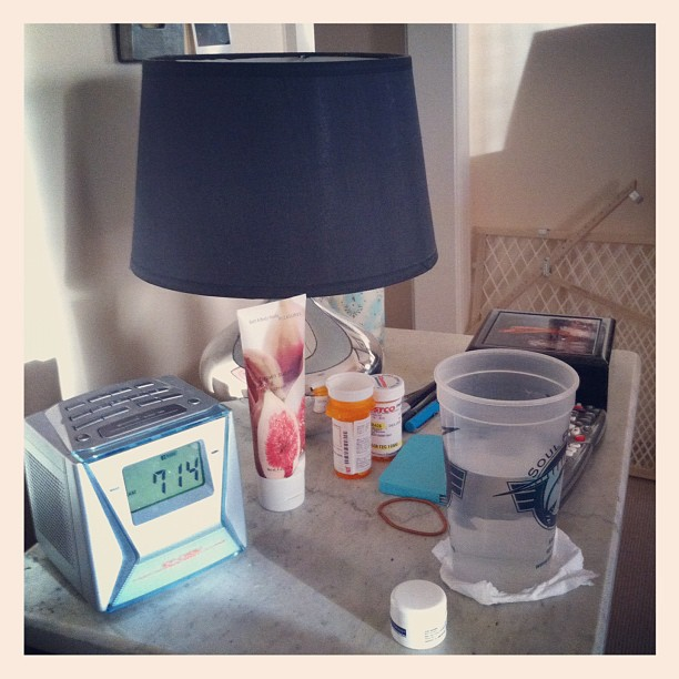#bedside table #marchphotoaday #day4 time to wake up!