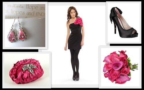 Wedding Color Inspration: Pink and Black by Nina Renee Designs