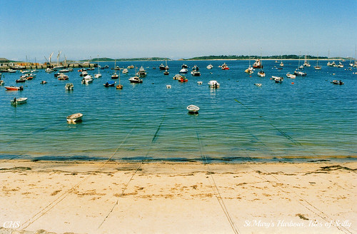St.Mary's Harbour, Isles of Scilly.  35mm 1999 by Stocker Images