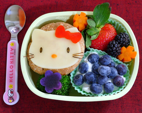 Hello Kitty Pizzawiches Bento by sherimiya ♥