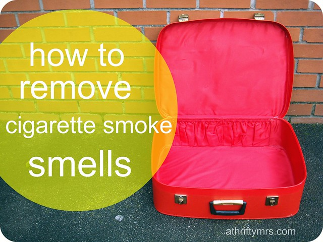 how to remove cigarette smoke smells