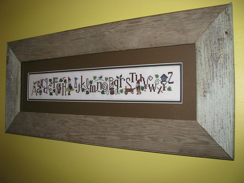 Gnome Alphabet Sampler Framed