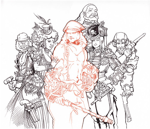 Broken Toys cover characters inked by broken toys
