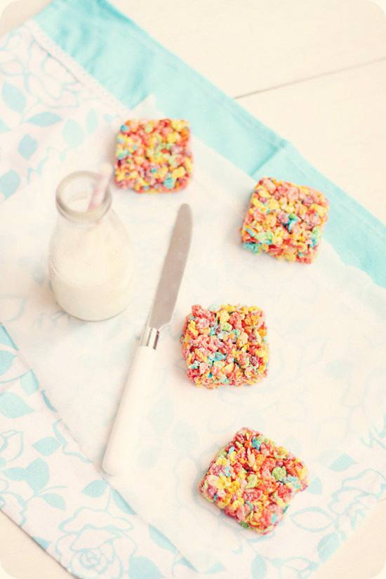 Fruity Pebbles Marshmallow Treats