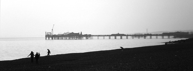 Pier Silhouette BW | Flickr - Photo Sharing!