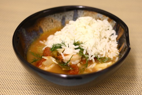 Fish stew with rice