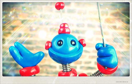 Sneak Peek | Robot Beaming with Excitment by HerArtSheLoves