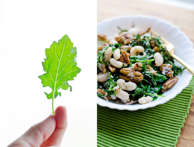 Roasted Kale Salad with Pecans by Mary Banducci
