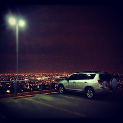 My truck after gym #toyota #mextagram  #nightshot #gym #mexico  #city #nightlife #parkinglot