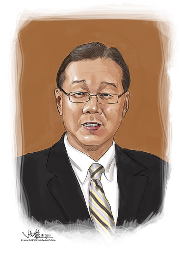 digital portrait illustration of MD ASTAR Prof Low Teck Seng
