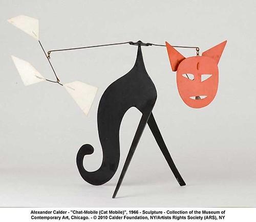 "Alexander Calder - ""Chat-Mobile (Cat Mobile)"", 1966 by artimageslibrary"