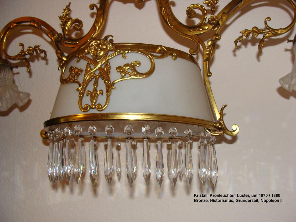 kristall kronleuchter leuchter l ster deckenlampe bronze historismus gr nderzeit inmortalis. Black Bedroom Furniture Sets. Home Design Ideas