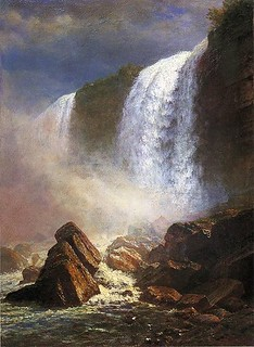 ALBERT BIERSTADT'S PAINTING OF NIAGRA FALLS