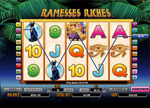 Ramesses Riches Bonus Game