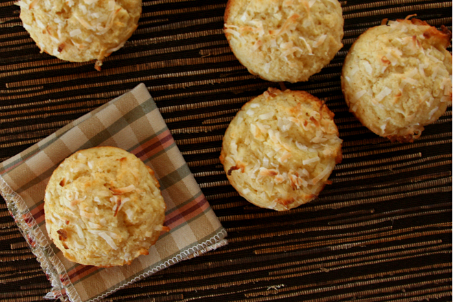 double coconut muffins