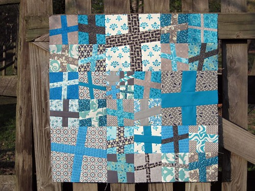 Wonky Crosses Mini Quilt