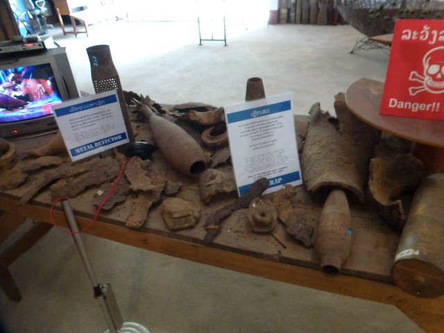 Parts of bombs at COPE