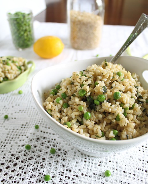 Basil brown rice