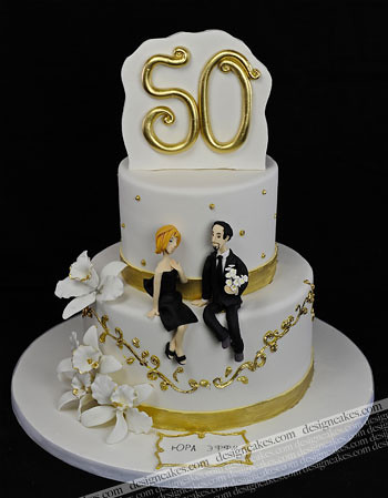 50th wedding anniversary cake flickr photo sharing. Black Bedroom Furniture Sets. Home Design Ideas