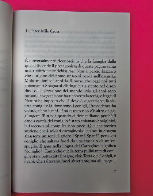Virginia Woolf, Flush. Una biografia. A cura di Chiara Valerio; nottetempo, Roma 2012. progetto grafico di Dario e Fabio Zannier. incipit (part.), 1